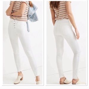 Madewell 10 inch high rise white skinny jeans 31